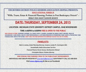 WILLS TRUSTS ESTATE PLANNING-RDPMA_Sept24_2015FORUM